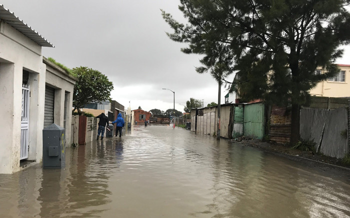 FILE: Earlier in July Cape Town heavy rain left the streets of Hanover Park flooded. Picture: Monique Mortlock/EWN