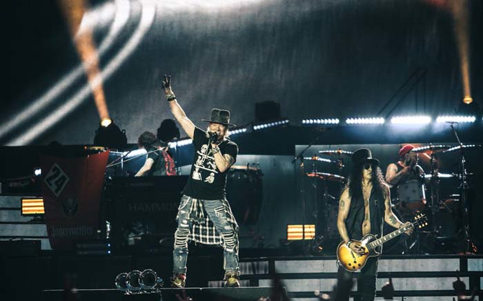 International rock icons Guns N' Roses perform in Berlin, Germany, during their 'Not In This Lifetime' world tour. Picture: Twitter/@gunsnroses