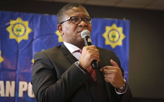 FILE: Police Minister Fikile Mbalula addresses a police imbizo. Picture: Cindy Archillies/EWN