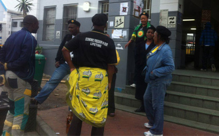 ANCYL members gather in Salt River ahead of their protest to the Western Cape legislature on 27 August 2012. Picture: Carmel Loggenberg/EWN