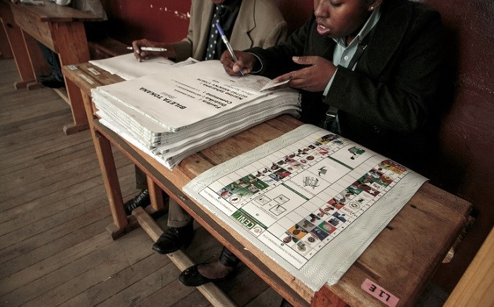 Ballots papers are seen at a polling station in Faravohitra district during the first round of the presidential election in Antananarivo on 7 November 2018. Picture: AFP