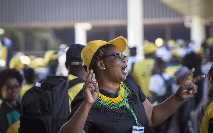 ANC delegates sing and dance outside the plenary at ANC's 54th national conference. Picture: Thomas Holder/EWN