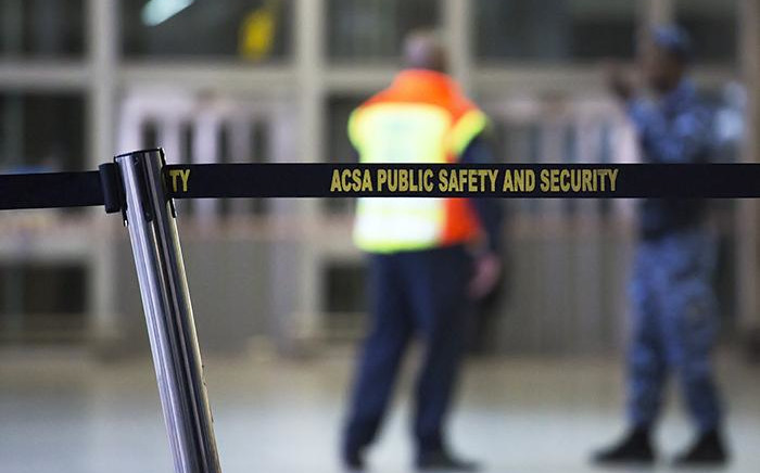 Airports Company South Africa (Acsa) security measures at a local airport. Picture: Sethembiso Zulu/EWN