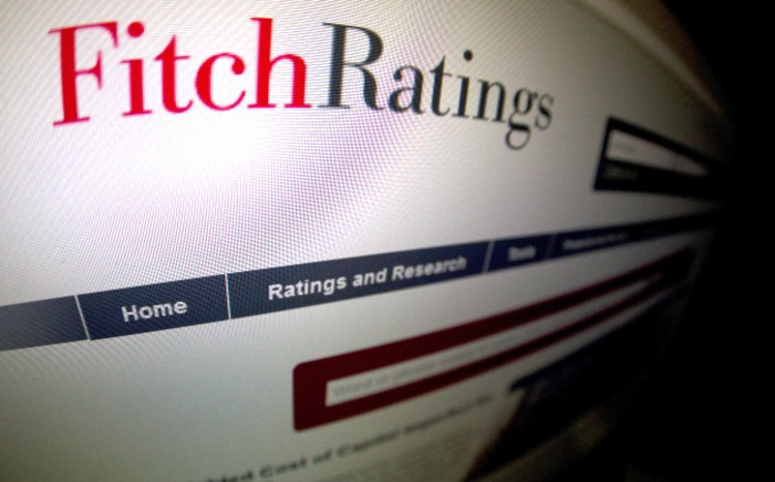 This picture taken on 17 January, 2012 shows a close-up of a page of the Ratings agency Fitch website. Picture: AFP.