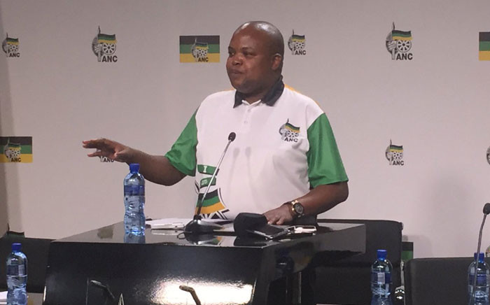 ANCYL President Collen Maine addresses media at Luthuli House on 7 November 2016. Picture: Victor Magwedze/EWN