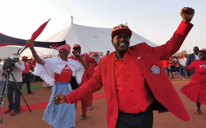 Botswana President Mokgweetsi Masisi on the campaign trail for the Botswana Democratic Party. Picture: @OfficialMasisi/Twitter