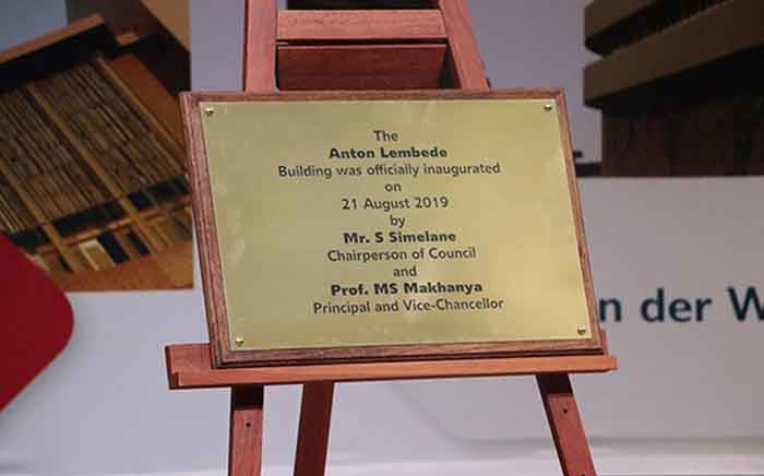 Unisa honoured the late Winnie Madikizela-Mandela, Prof Simon Radipere and Mr Anton Lembede by naming three buildings at the Muckleneuk campus after them. Picture: @unisa/Twitter.