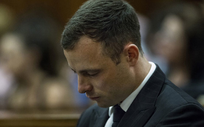 Oscar Pistorius at the High Court in Pretoria during sentencing procedures for shooting his girlfriend Reeva Steenkamp on 13 October 2014. Picture: Pool.
