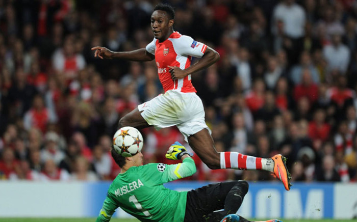Arsenal's Danny Welbeck scores one of his goals against Galatasaray in the Champions League on 1 October 2014. Picture: Facebook.