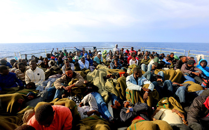 FILE: African migrants are seen on a boat trying to cross the Mediterranean. Picture: @UNmigration/Twitter.