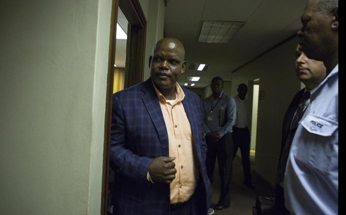 Former acting National Police Commissioner Khomotso Phahlane is seen at the Commercial Crimes Court in Pretoria where he was appearing on fraud and corruption charges. Picture: Ihsaan Haffejee/EWN