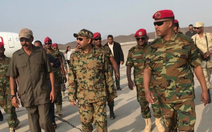 Ethiopia's Prime Minister Abiy Ahmed and Eritrean President Isaias Afwerki visit their troops stationed at Bure. Picture: @fitsumaregaa/Twitter