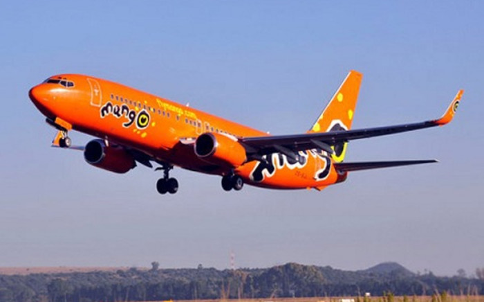 FILE: Mango Airlines plane. Picture: Supplied.