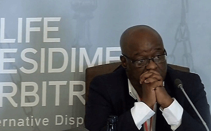 Dr Barney Selebano at the Life Esidimeni hearings on 5 December 2017. Picture: Screengrab/Youtube