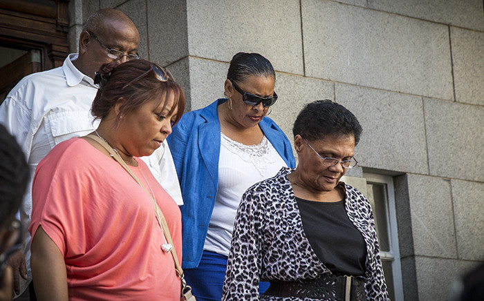 Members of Zephany Nurse's biological family leave the Western Cape High Court. Picture: Thomas Holder/EWN.