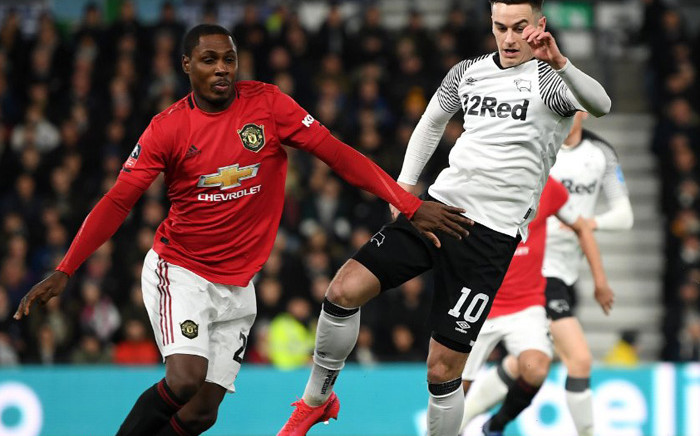 Manchester United's Nigerian striker Odion Ighalo (L) during the FA Cup Fifth Round against Derby County on 7 March 2020. Picture: @ManUtd/Twitter.
