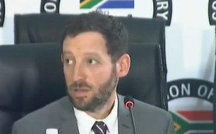 Screengrab of forensic investigator Marc Sacks testifying at the State Capture Commission of Inquiry on Thursday, 25 February 2021. Picture: YouTube