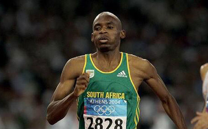 South African middle distance runner and the 2009 world champion in the men's 800 metres Mbulaeni Mulaudzi. Picture: Twitter @beningfield.