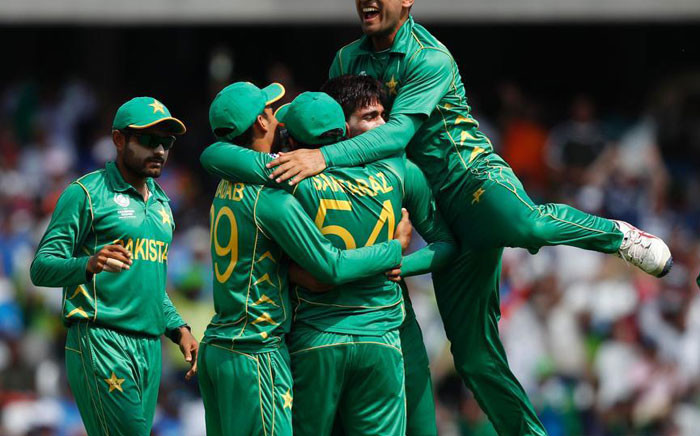 Pakistan vs India during the 2017 ICC Champions Trophy Final. Picture: Twitter.
