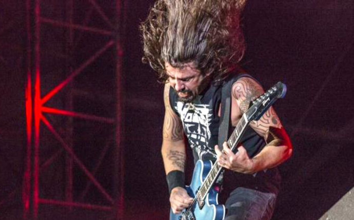 Foo Fighters frontman Dave Grohl performs at FNB Stadium in Johannesburg on 13 December 2014. Picture: Twitter via @BigConcerts.
