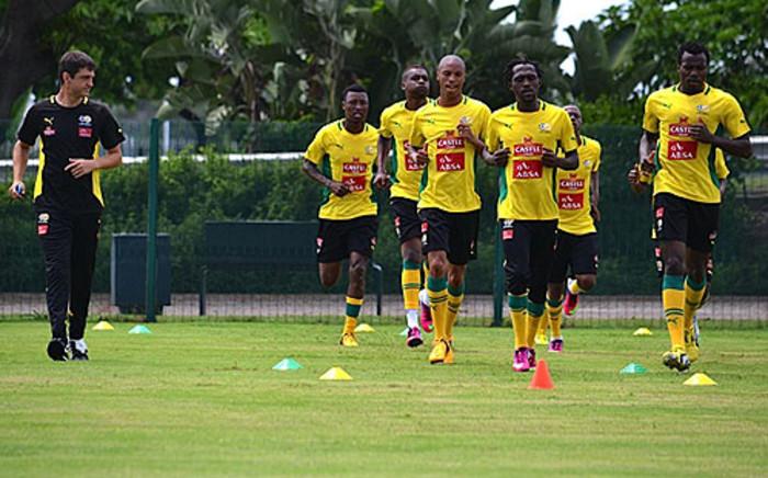 Bafana Bafana hard at training at Moses Mabhida Stadium. Picture: Aletta Gardner/EWN