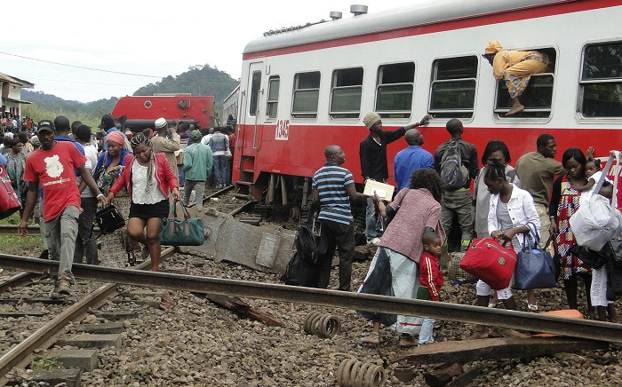At least 70 people were killed and over 600 injured when a packed Cameroon passenger train derailed on 21 October, 2016 while travelling between the capital Yaounde and the economic hub Douala, state broadcaster Crtv said. Picture: AFP.