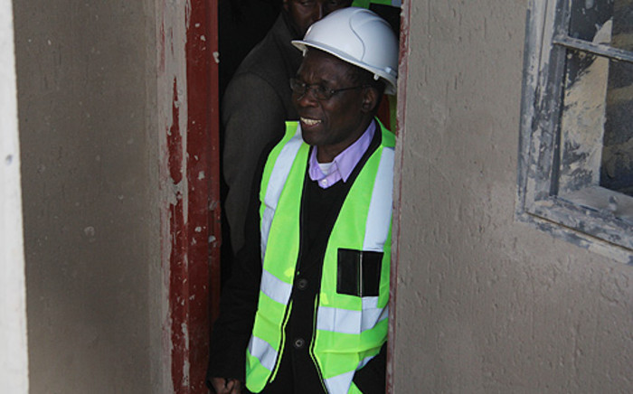 Gauteng MEC for Local Government and Housing Humphrey Mmemezi inspects RDP houses being built in Tembisa. Picture: Taurai Maduna/EWN