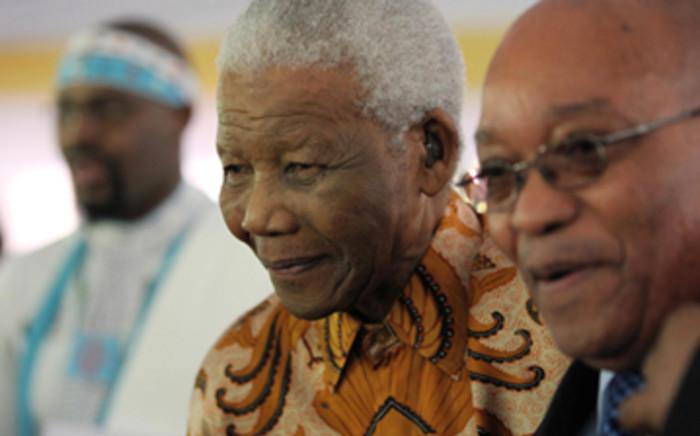 FILE: Former presidents Nelson Mandela and Jacob Zuma celebrate Madiba's 91st birthday at Mandela's home in Houghton Johannesburg. Picture: Debbie Yazbek/Nelson Mandela Foundation.