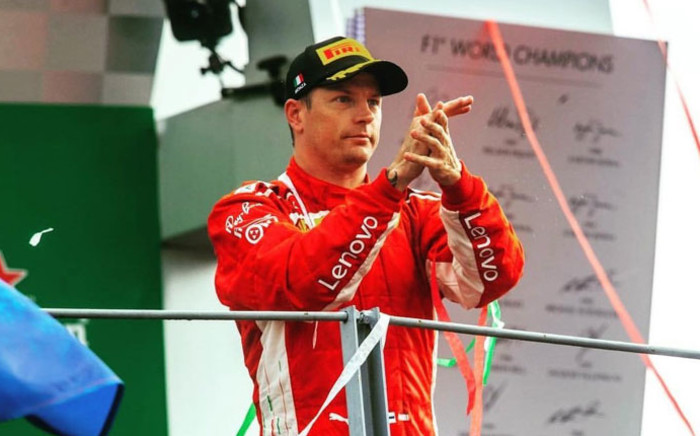Kimi Raikkonen. Picture: @RaikkonenOficia/Twitter