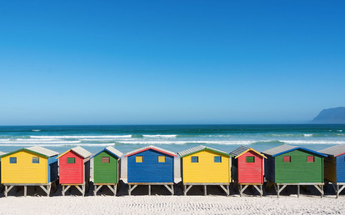 Colourful changing huts at Muizenberg beach in Cape Town. Picture: 123rf.com