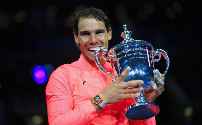 FILE: Rafael Nadal of Spain poses with the championship trophy after defeating Kevin Anderson of South Africa during their Men's Singles finals match on Day 14 during the 2017 US Open on 10 September, 2017 in the Queens borough of New York City. Picture: AFP.