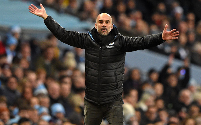 FILE: Manchester City's Spanish manager Pep Guardiola gestures on the touchline during the English Premier League football match between Manchester City and Leicester City at the Etihad Stadium in Manchester, north-west England, on 21 December 2019. Picture: AFP