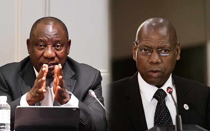 A digitally edited image of President Cyril Ramaphosa's and Health Minister Zweli Mkhize's portrait pictures. Picture: PresidencyZA & Sethembiso Zulu/EWN