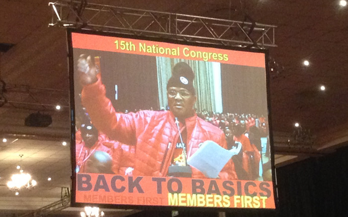FILE: David Sipunzi addressed NUM delegates at the union's elective congress. Picture: Govan Whittles/EWN.
