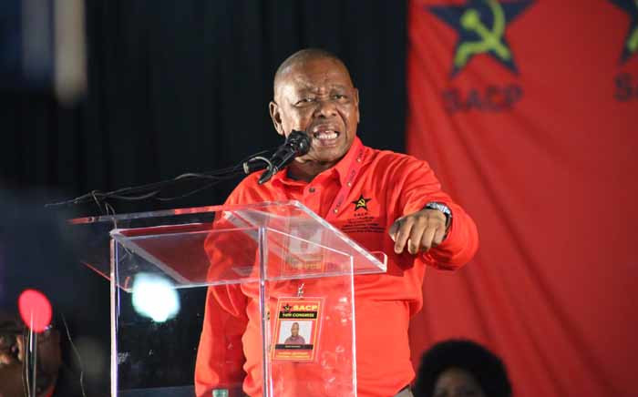 FILE: Blade Nzimande at the SACP's 14th National Congress in Boksburg. Picture: Twitter/@SACP1921