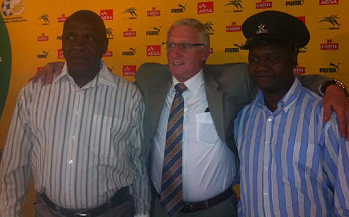 Bafana Bafana coach Gordon Igesund names the squad to take on Brazil on 30 August 2012. Picture: Lelo Mzaca/EWN