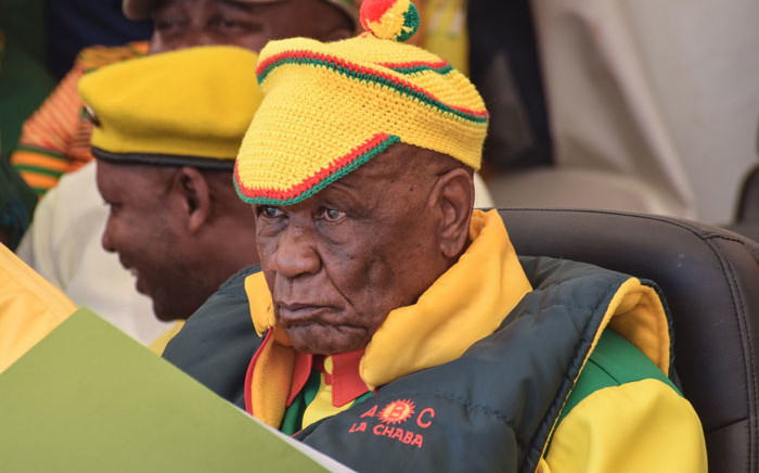 FILE: All Basotho Convention leader Thomas Thabane looks on during a rally at the Ha Abia constituency in Maseru on 8 March 2020. Picture: AFP