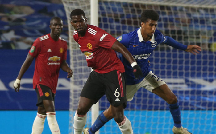 Manchester United's Paul Pogba in action against Brighton in the League Cup on 30 September 2020. Picture: @ManUtd/Twitter