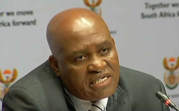 YouTube screengrab of the newly appointed head of the Hawks Major General Berning Ntlemeza.