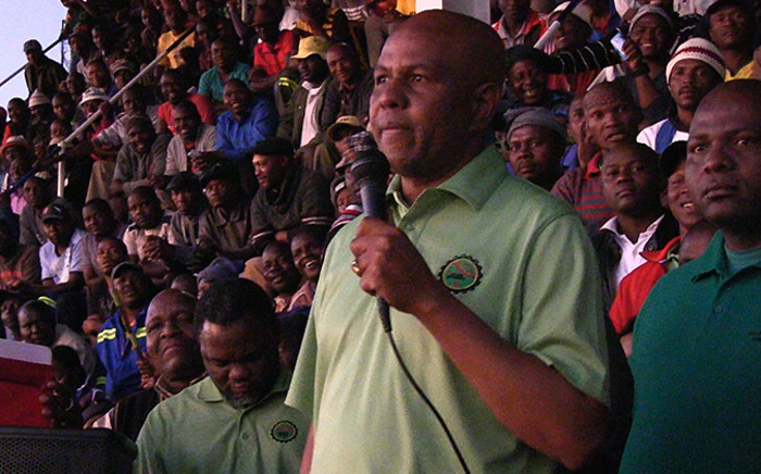 FILE: Joseph Mathunjwa, president of AMCU, the second largest labour group in the gold sector told Reuters the union wants its members to be paid R12,500 per month.Picture: Reinart Toerien/EWN.