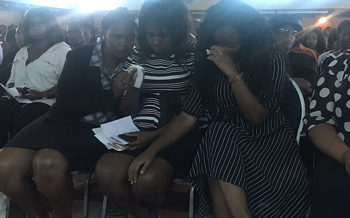 Mlungisi Madonsela's sisters seen at his memorial service on 12 February 2019. Picture: EWN.