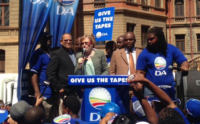 DA leader Helen Zille addresses the media outside the North Gauteng High Court in Pretoria on 4 September, 2014. Picture: Vumani Mkhize/EWN.