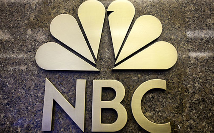 The NBC logo as seen from its head office in New York. Picture: AFP