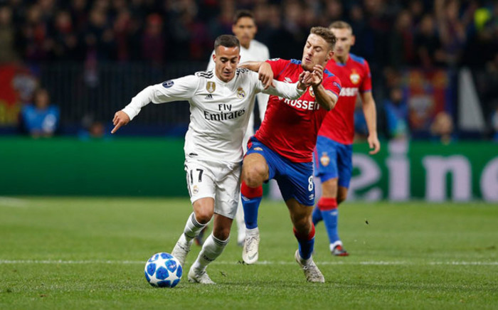 Real Madrid in action against CSKA Moscow on 2 October 2018. Picture: @realmadriden/Twitter