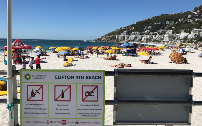 A general view of Clifton 4th Beach in Cape Town. Picture: Cindy Archillies/EWN.