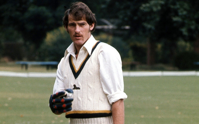 An undated picture released by Saspa shows South African cricket legend Clive Rice practising in Johannesburg. Picture: AFP/Saspa.