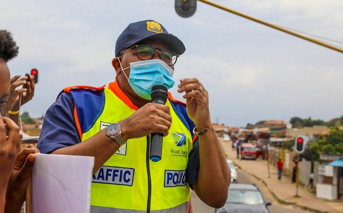FILE: Transport Minister Fikile Mbalula on 17 December 2020 launched his department's road safety initiative, 'hoot for life', in Diepsloot, Soweto. Picture: @MbalulaFikile/Twitter.