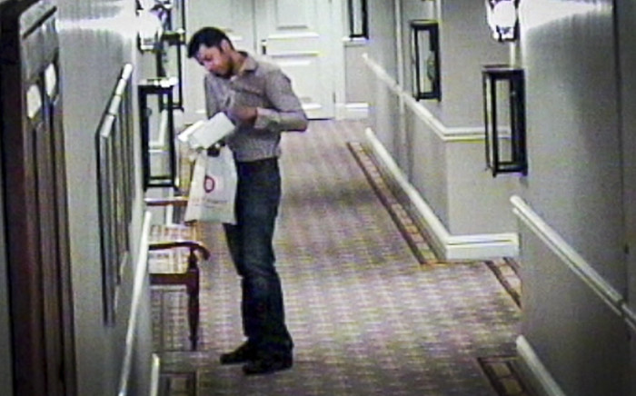 FILE: CCTV footage from the Cape Grace Hotel featuring Shrien Dewani.