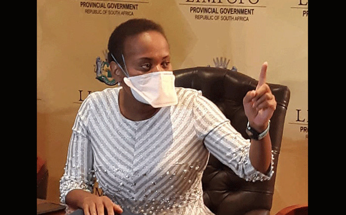 FILE: Limpopo Health MEC Dr Phophi Ramathuba. Picture: Limpopo Department of Health (Bophelo)/Facebook.