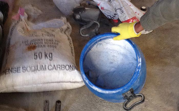FILE: Methaquelone powder found at a house in Douglasdale, Johannesburg. Picture: Christa van der Walt/EWN